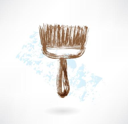 Brush grunge icon Vector