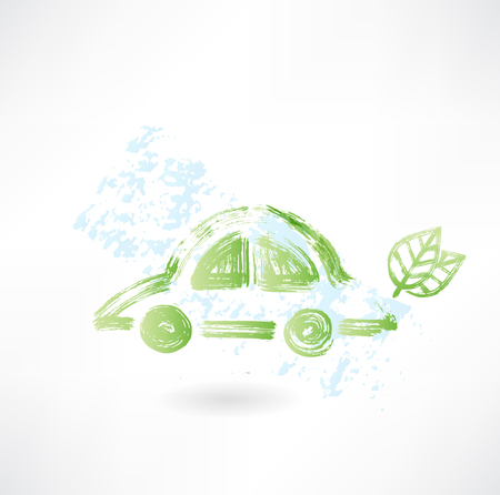 eco car grunge icon Vector
