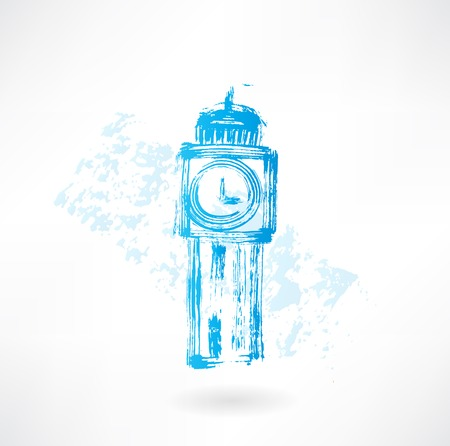big Ben grunge icon Vector