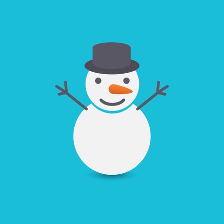 Snowman on blue background Banco de Imagens - 25822939