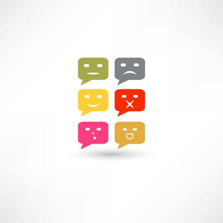 emozioni: emozioni discorso bolla di colore