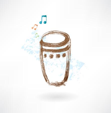 bongo drum: bongo grunge icon