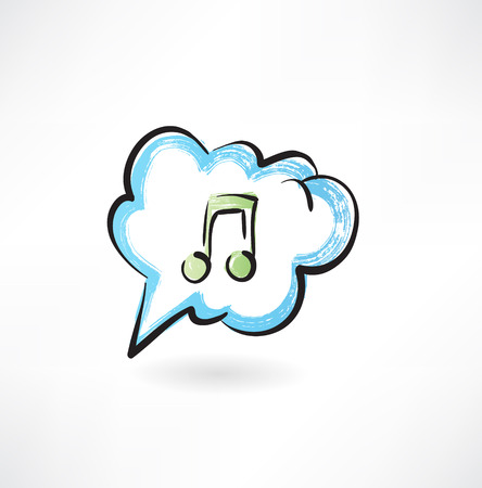 music in the cloud Ilustrace