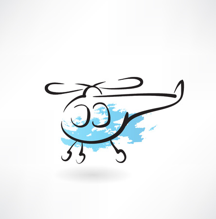 helicopter grunge icon Stock Vector - 26178139