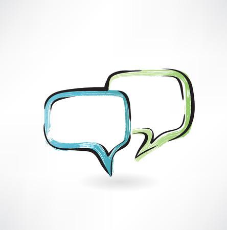 dialogue grunge icon Illustration