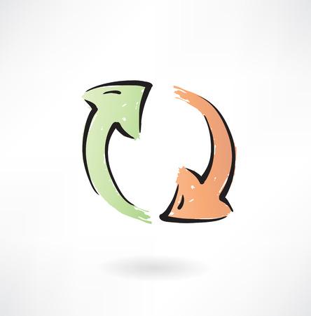 rotate icon: refresh grunge icon