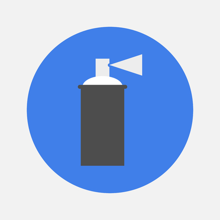 paint container: spray with paint icon Illustration