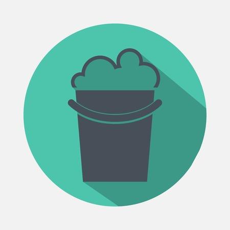 heterogeneous: bucket with detergent icon