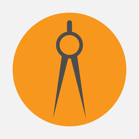 diameter: compasses icon Illustration