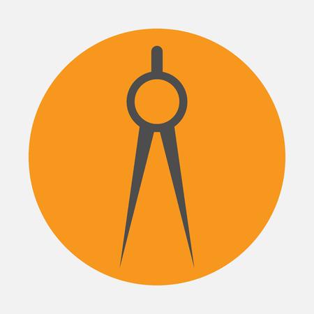 icon: compasses icon Illustration
