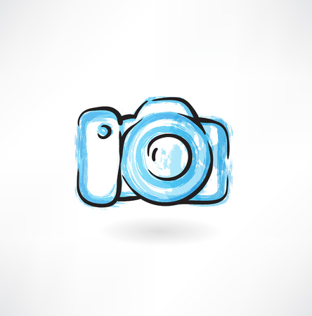 professional camera grunge icon Vector