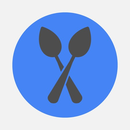 two spoons Vector