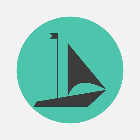 motor boats: yacht icon