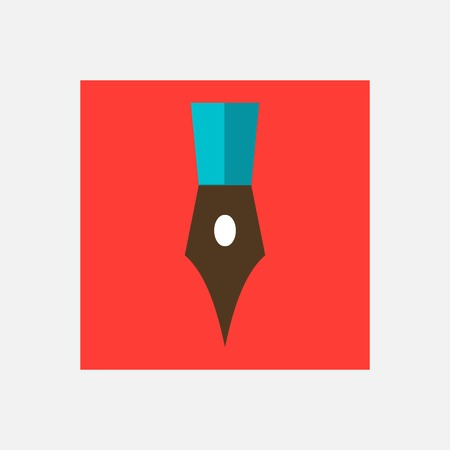 signing papers: writing pen icon