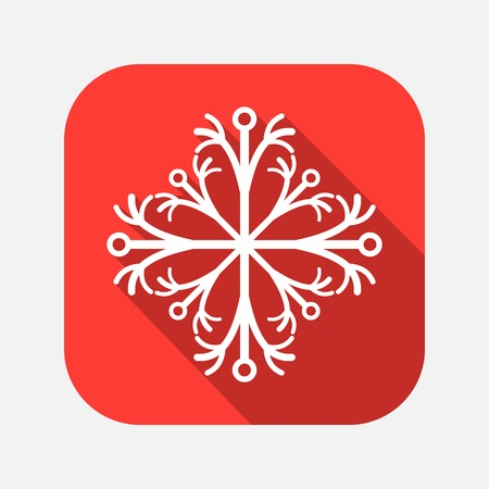 regular tetragon: snowflake icon