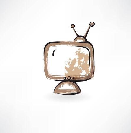 old TV grunge icon