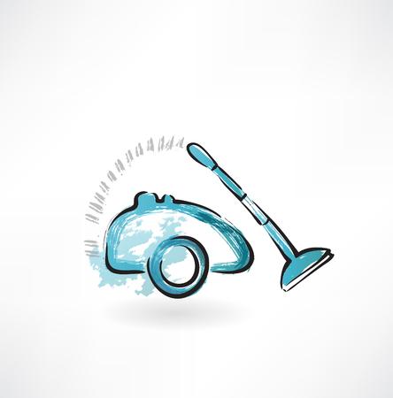 vac: vacuum cleaner grunge icon