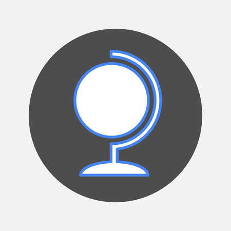 terrestrial: globe icon Illustration