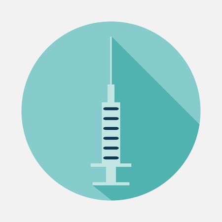 virus sida: icono de jeringa