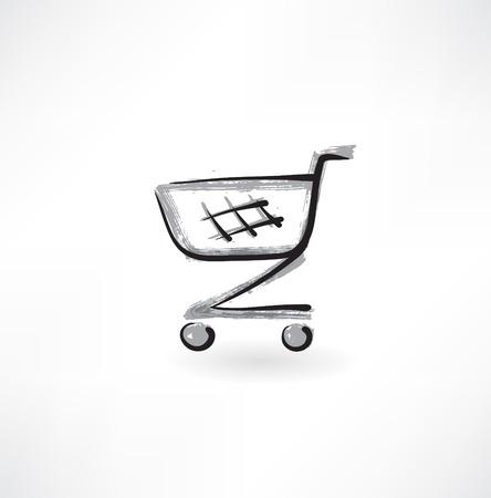 trolley grunge icon Illustration