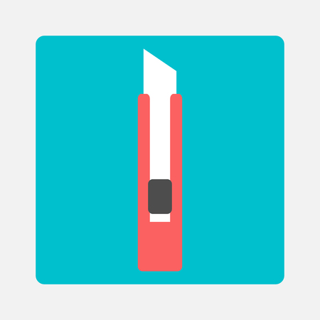 Stationery knife icon Vector