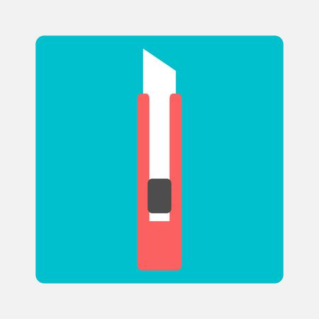 office stapler: Stationery knife icon Illustration