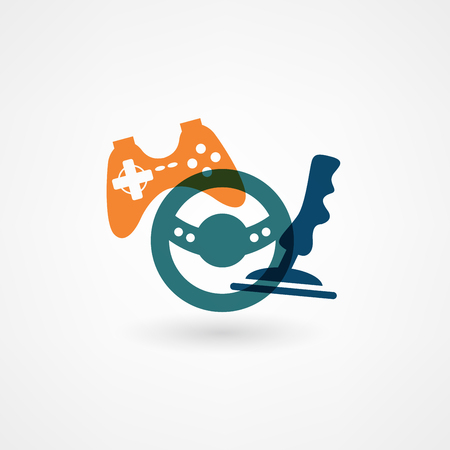 controllers: game joystick icon Illustration