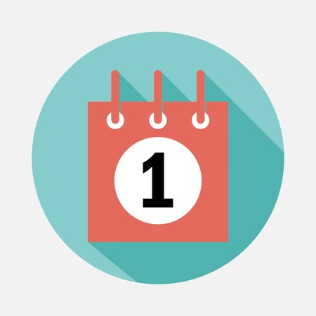 january 1st: calendar icon Illustration