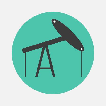 crude: oil derrick icon Illustration