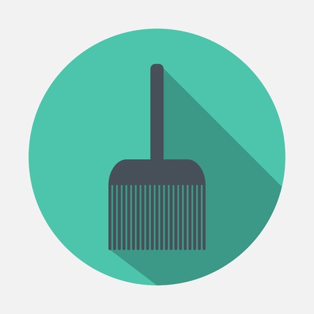 incrustation: broom icon Illustration