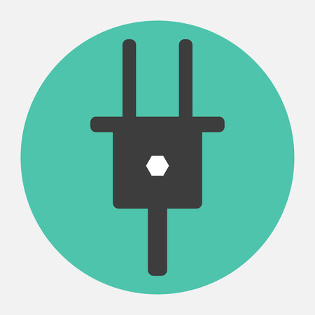 electrical outlet: electrical plug icon