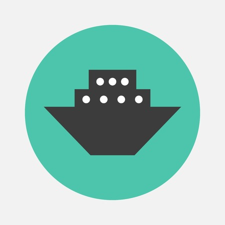 ship wreck: Steamboat icon Illustration