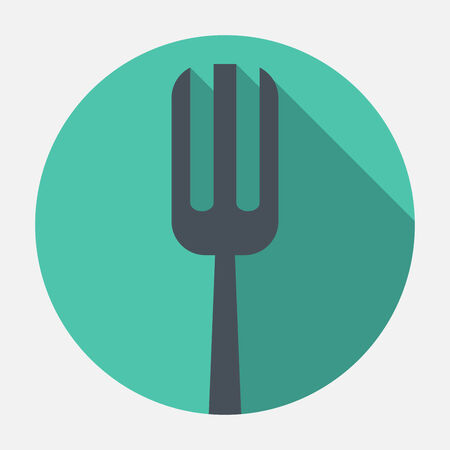 fork and spoon knife: fork icon Illustration