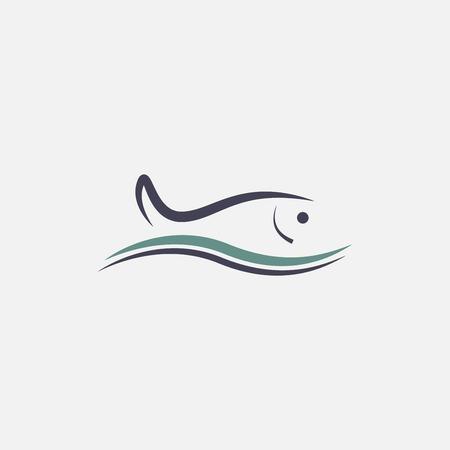 Fisch-Symbol Standard-Bild - 26179955