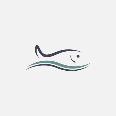 outline fish: fish icon