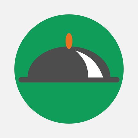 overdekte schotel icoon