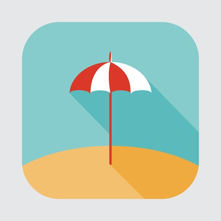 cartoon umbrella: parasol icon Illustration