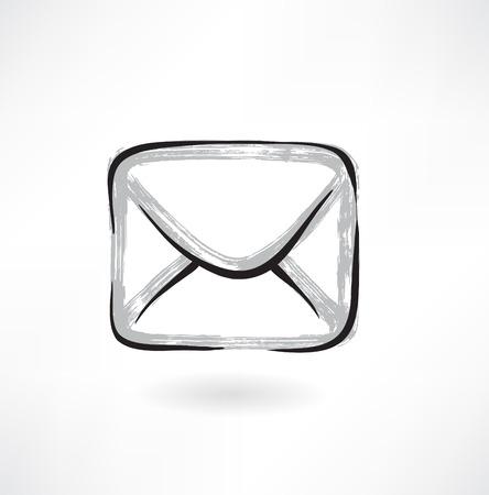 envelope grunge icon Illustration