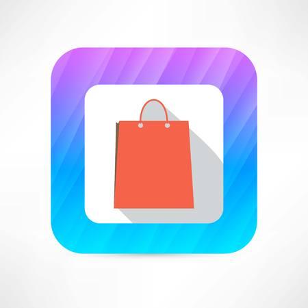 paper bag icon Фото со стока - 26596745