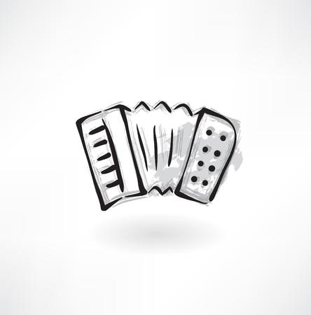 accordion: accordion grunge icon Illustration