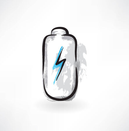 low battery: battery grunge icon Illustration