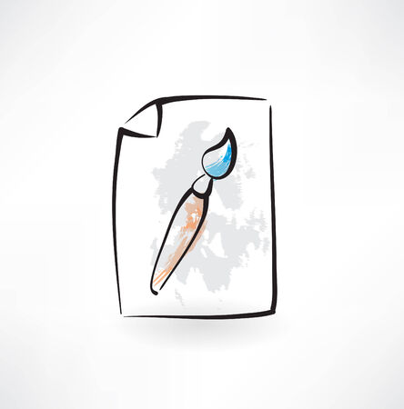 dripped: paint brush grunge icon