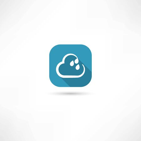 rain cloud icon 矢量图像