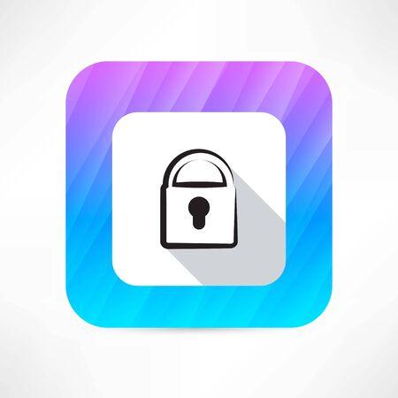 private access: lock icon