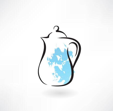 ミルク水差しグランジ アイコン  イラスト・ベクター素材