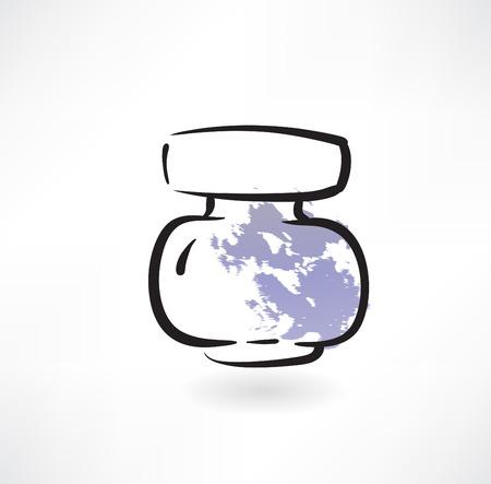 dripped: ink jar grunge icon