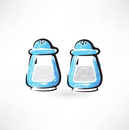 salt and pepper grunge icon 向量圖像