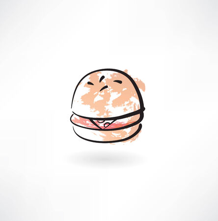 hamburger grunge icon Illustration