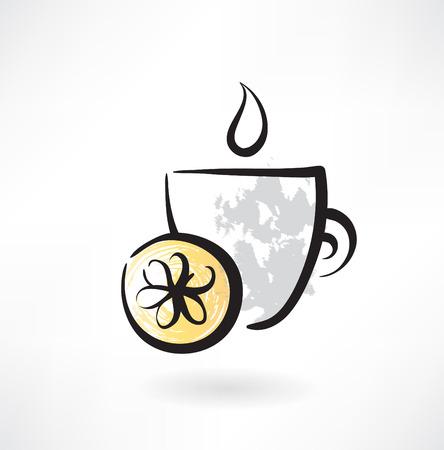 lemon tea grunge icon