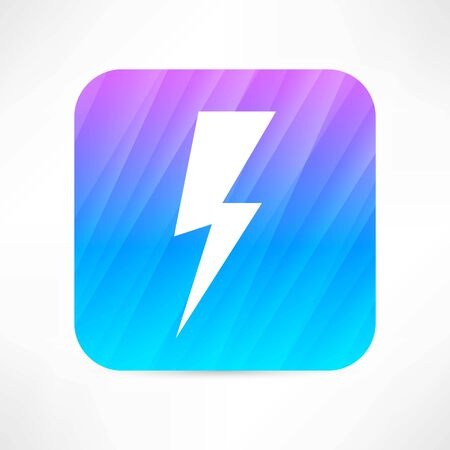 electric current: lightning icon